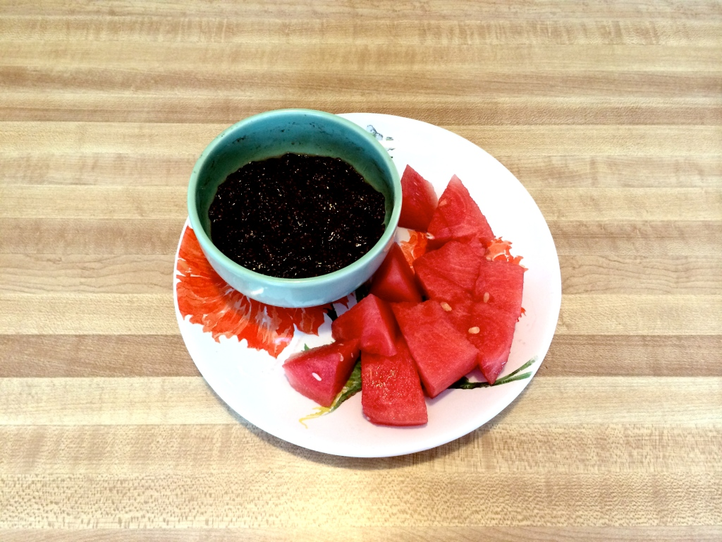 Chocolate Mousse w/ Watermelon